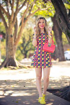 Vestido Colorido (look!) - Taciele Alcolea