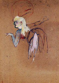 Henri de Toulouse-Lautrec Extra in the Folies Bergere Revue