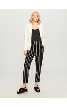 Trousers with stripes, New In, multicolor, RESERVED