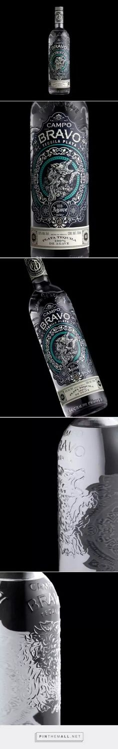 Campo Bravo Tequila packaging design by Stranger & Stranger (USA)… Beverage Packaging, Bottle Packaging, Brand Packaging, Beauty Packaging, Food Packaging, Wine Label Design, Bottle Design, Wine And Beer, Wine And Spirits