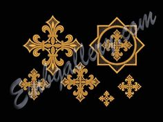 """A set of crosses for church vestments"" 