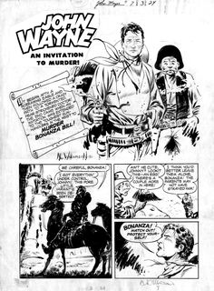 Al Williamson frank frazetta | FRAZETTA, FRANK / AL WILLIAMSON - John Wayne #7 page 1 Splash by Frank ...