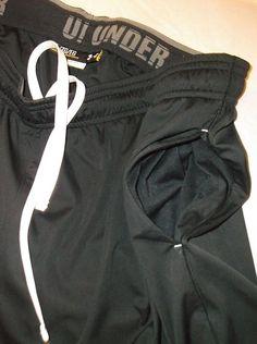 UNDER ARMOUR SWEAT SHORTS JOGGERS ATHLETIC BLACK DRAWSTRING MENS Size XL  #UnderArmour #Athletic