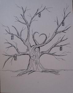 Items similar to Hand Drawn Thumbprint Tree Guestbook with Mason Jars on Etsy Family Tree Drawing, Family Tree Art, Tree Drawing Simple, Wedding Tree Guest Book, Guest Book Tree, Thumbprint Tree, Tree Templates, Printable Templates, Tree Stencil