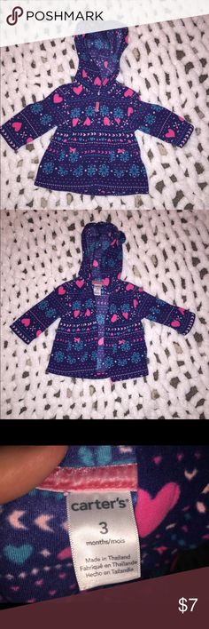 Infant Girls Jacket Infant Baby Girls Hooded Zip Front Fleece Jacket Carter's Jackets & Coats