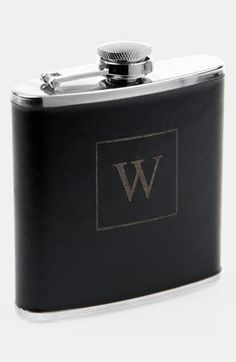 Steal clandestine sips from a handsome stainless-steel flask wrapped in faux leather. Finish the piece with posh personalization by choosing a classic single-letter monogram. Color(s): a, b, c, d, e, f, g, h, i, j, k, l, m, n, o, p, q, r, s, t, u, v, w, x, y, z. Brand: CATHY'S... $$38.00 by nordstrom