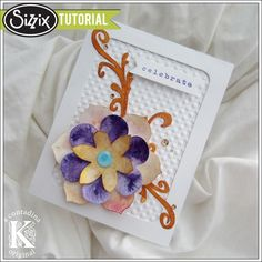 Sizzix Tutorial | Dousing Your Die Cuts by Vivian Keh