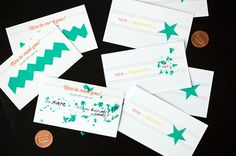 How to Make Scratch-Off Business Cards (+ Free Printables!) via Brit + Co. ~ Make the scratch off paint by mixing two parts paint with one part dish soap. Fun Crafts, Paper Crafts, Scratch Off Cards, Rainy Day Crafts, Free Business Cards, Paper Punch, Do It Yourself Projects, Toddler Crafts, Kids Cards