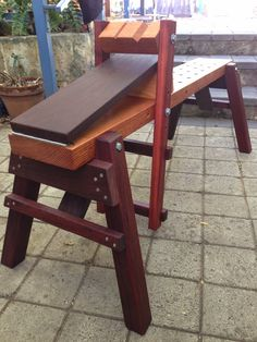 A lovely solid shaving horse, the Mk III has folding legs too, and a solid body with dog-holes in it.