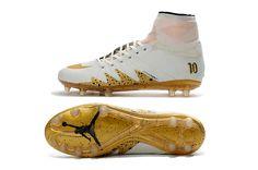 san francisco 5470b 6d246 Nike Hypervenom Phantom FG Jordan Neymar White Gold Men Soccer Shoes