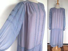 Vintage 1960s Dress // 50s 60s Lavender and by TrueValueVintage