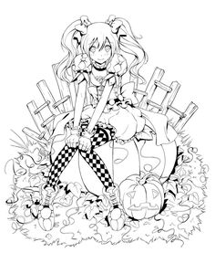 This was done for the Mangabullet Halloween contest, unfortunately tho I just didn't have time to color it..... I kinda like it so I might finish it eventually.... the whole thing is already color ...