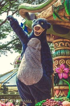 Flights of Fantasy in Hong Kong DIsneyland Balu from Jungle Book DIsneyland Disney Hong Kong, Hong Kong Disneyland, Classic Disney Characters, Pearl River, Roller Coaster Ride, King Louie, Disney Theme, Tigger, Mickey Mouse