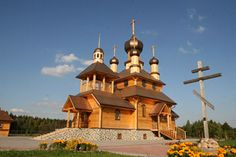 Orthodox Church Saint John the Baptist. Dudutki Museum, Dudutki, Belarus