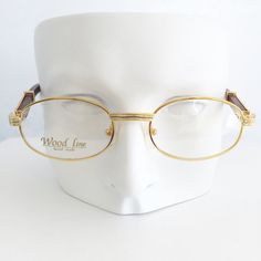 Cartier frames Vintage gold and wood glasses Gold plated