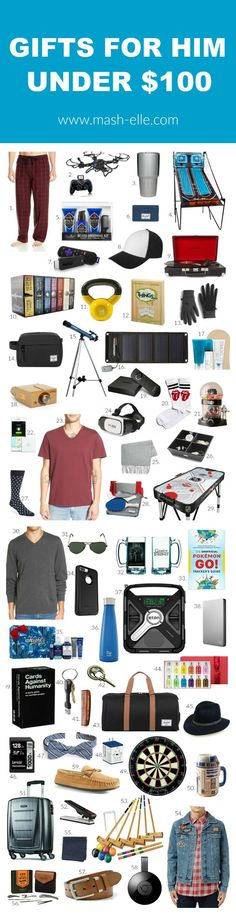 SO MANY GREAT IDEAS!   Beauty, fashion and lifestyle blogger Mash Elle shares the best unique Christmas gift ideas for men! A complete list of gifts for your dad, cousin, brother, co-worker, nephew, and more!