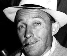 """Today people mostly remember Bing Crosby as the laid back singer who made the song """"White Christmas"""" a major hit. Some younger people do not. Golden Age Of Hollywood, Vintage Hollywood, Hollywood Stars, Classic Hollywood, Hollywood Party, Hollywood Actor, Bing Crosby, 1940s Movies, Music"""