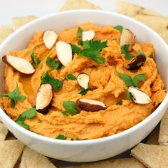 This is my favorite hummus recipe so far!(I only use 3 tbls tahini) Roasted red pepper hummus