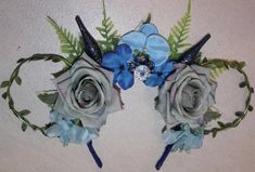 Excited to share the latest addition to my #etsy shop: Pandora, Avatar Inspired Floral and Wire Mouse Ears, Blue, Mickey Ears, Minnie Ears, Disney Ears, U.K. Based http://etsy.me/2nH2bKP #accessories #hair #disney #floral #wire #mickey #ears #pandora #blue