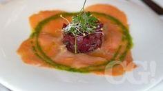 Carpaccio de salmón con tartare de remolachas. - Sibaris - Windsor Hotel & Tower | Córdoba, Argentina