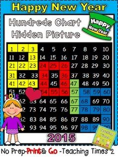 3- 2- 1- Happy New Year !!!!!! Get the year started off right with this cute hundreds chart hidden picture 2015 freebie. Your kids will have a ball coloring their own hidden picture while bringing in the new year, all while working on the common core standard- numbers to 120.