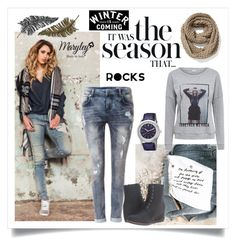 """""""winter is domino"""" by annevangemert on Polyvore featuring mode, Maryley, Circle Of Trust, Paperself, Old Navy en ESPRIT"""
