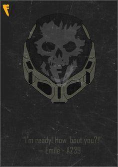 Halo Reach Emile Helmet Poster by FALLENV3GAS on DeviantArt