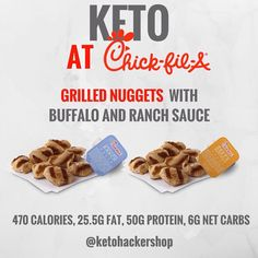 KETO AT CHICK-FIL-A So you're a Keto Hacker and your about to swing by Chick-fil-A for some fast food. What can you order on the menu and stil by ketohackershop Keto Diet Fast Food, Healthy Fast Food Options, Fast Healthy Meals, Ketogenic Diet, Keto Foods, Keto Snacks, Healthy Eating, Healthy Life, Keto Friendly Fast Food