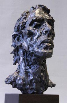 Portrait head, bronze, Alan McGowan 2013. www.alanmcgowan.com