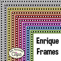 Enrique Frames - Great frames for saving ink but still adding a splash of color! Dollar Deal!!! http://www.teacherspayteachers.com/Product/Dollar-Deal-Enrique-Frames-1527473