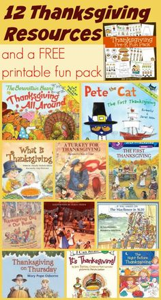 These are some great resources for Thanksgiving and a super cute printable pack too.