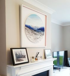 Stephanie Noble in customer home, framed and sold by Canvas, Belfast Lose My Breath, Amazing Paintings, First Snow, Human Emotions, Lake View, Light And Shadow, Gallery Wall, Tapestry, Clouds