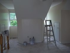 Here is another view of the painting work in-progress of the loft section within the master bedroom. Job Pictures, Townhouse Interior, Interior Painting, Master Bedroom, Loft, Lighting, Home Decor, Master Suite, Decoration Home