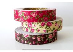 Vintage Floral Pattern Cotton Fabric Tape - Decorative Tape - New favorite website - all the paper/decorative goodies I'm always looking for!
