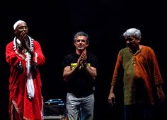 Tre straordinari musicisti. Omar Sosa, Paolo Fresu, Trilok Gurtu, #Timeinjazz, Berchidda, Sardegna, Italy - 2012
