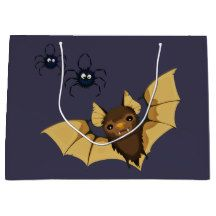 Vampire Bat Halloween Gift Bag - paper gifts presents gift idea customize Halloween Gift Bags, Halloween Bats, Vampire Bat, Large Gift Bags, Present Gift, Paper Gifts, Festival Party, Hallows Eve, Craft Supplies