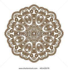 circular ornamental mandala vector