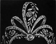 Another foliage frond tiara by Chaumet in 1900, using diamond and rubies, set within three fronds either side of a central one