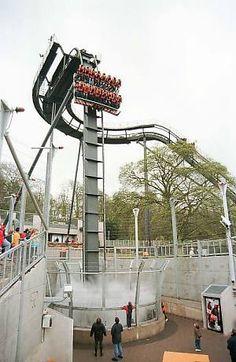 Oblivion rollercoaster Alton Towers, UK