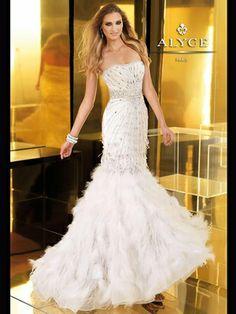 Strapless Mermaid Claudine Prom Dress 2250