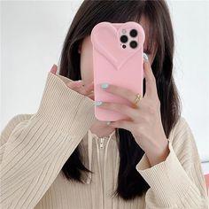 iPhone Cute Phone Cases Korean Heart Girly Clear Case For iPhone 12 Pro Max 11 XR X XS 7 8 Plus SE 2020 | Touchy Style Cute Iphone 5 Cases, Pink Phone Cases, Cute Cases, Iphone Phone Cases, Color Phone, Buy Iphone, Iphone 11, Cute Love Heart, Mini