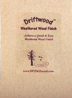 Driftwood Weathered Wood Finish DIY Driftwood