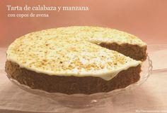 Tarta de calabaza y manzana con copos de avena - MisThermorecetas.com
