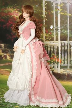 1800s Fashion, Vintage Fashion, Fancy Dress, Dress Up, Old Fashion Dresses, Bustle Dress, Poppy Parker, Victorian Dolls, Period Outfit