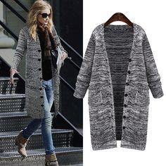 2016 Autumn Winter Women Cardigans Deep V-neck Long Thicking knitting Sweater Coat Fashion Elegant Women's Sweater Plus Size 5XL