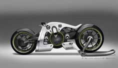 Image for black in white yamaha electric motorcycle concept by anam Concept Motorcycles, Cool Motorcycles, Dragster, Lamborghini, Ferrari, Peugeot, Rpg Star Wars, Dodge, Bike Sketch