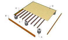 12 x 12 Wood Deck Plans | Ground Level Deck Plans | Free Outdoor Plans - DIY Shed, Wooden ...