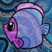 mosaic fish - krs_expressions - Spoonflower fabric