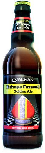Oakham Ales - Bishops Farewell Golden Ale 5,0% pullo*** 2.7.2018 KOTONA ENGLAND
