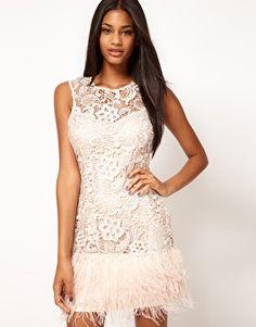 9fe5c219ce Lipsy VIP Feather Trim Dress